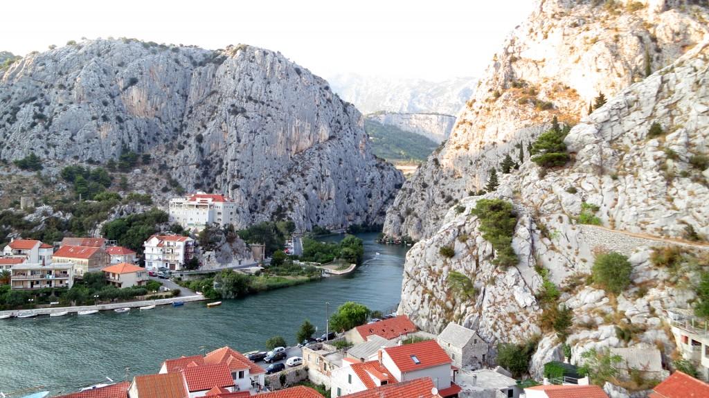 Omis mit Blick auf die Cetina