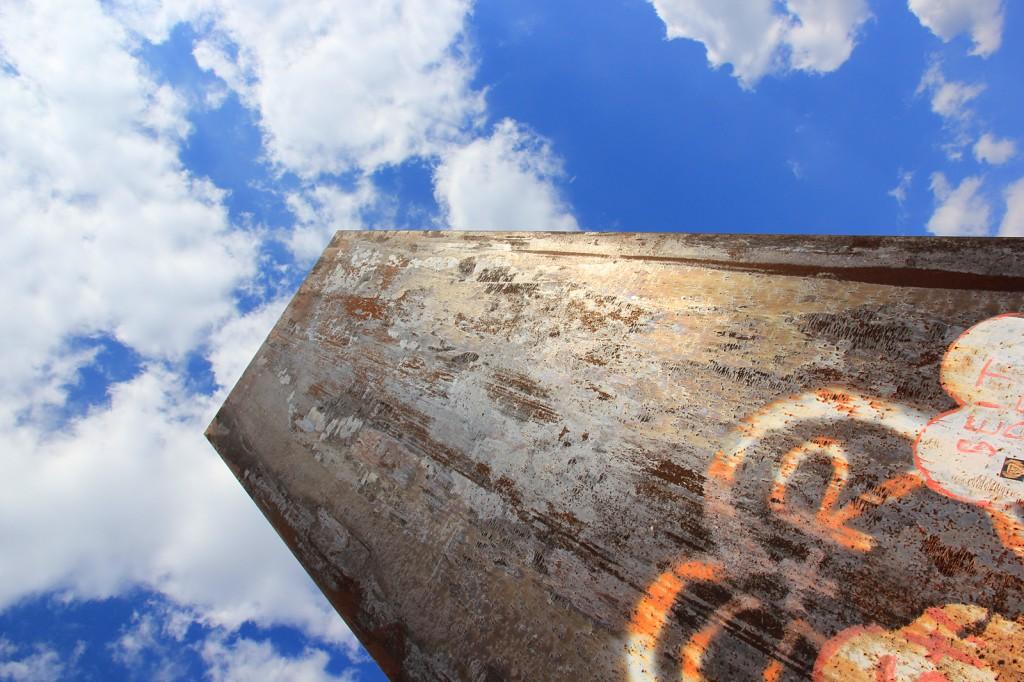 Bramme auf der Schurenbachhalde vom amerikanischen Bildhauer Richard Serra inszeniert.