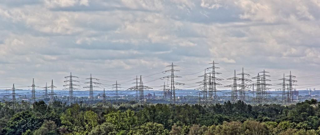 Blick vom Landschaftspark Hoheward auf Gelsenkirchen