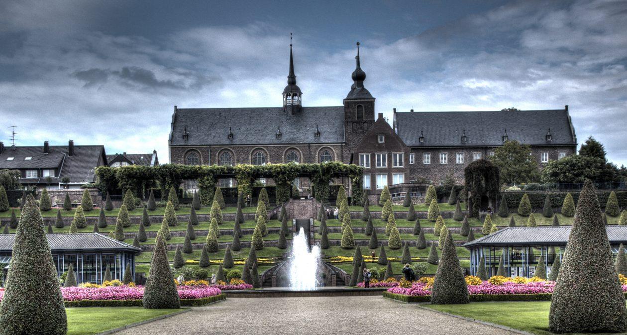 Terrassengarten im Kloster Kamp in Kamp Lintfort