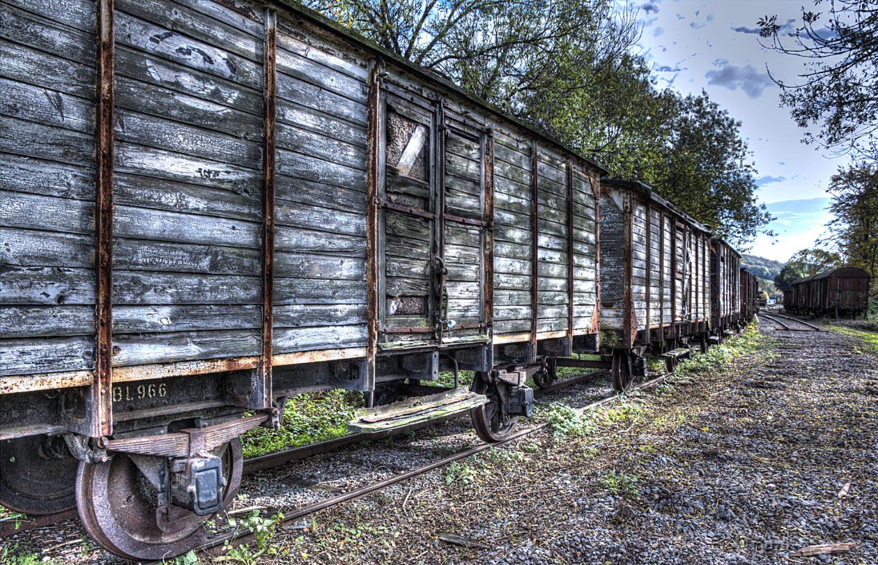 Verlassene Waggons Hombourg