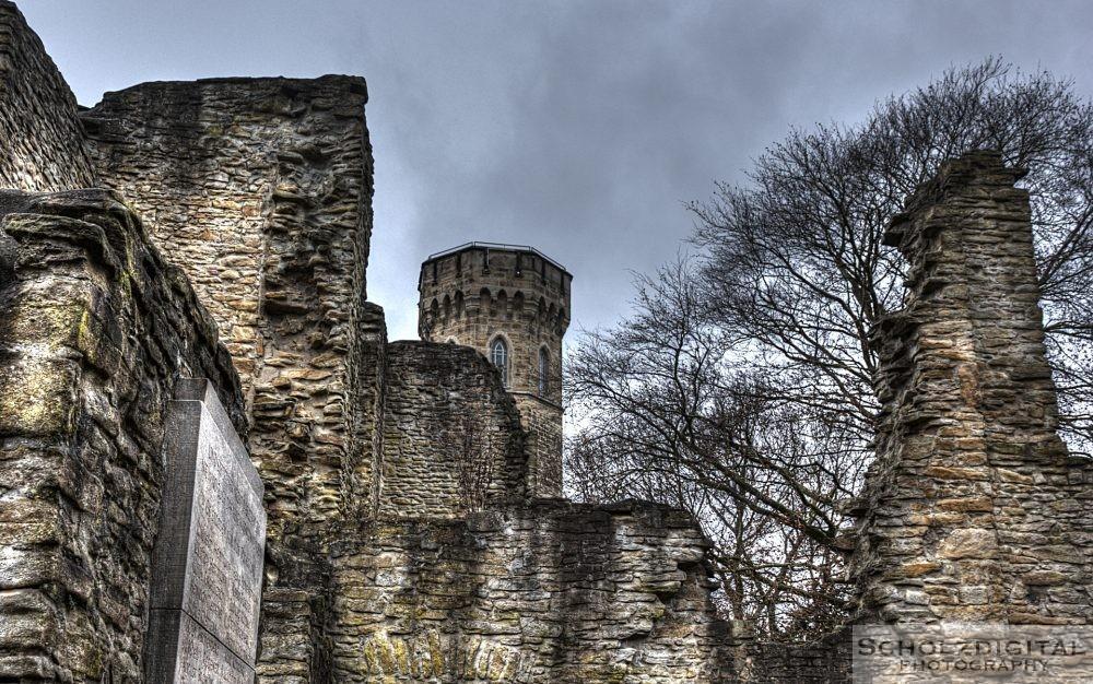 Ruine der steinernen Syburg in Dortmund