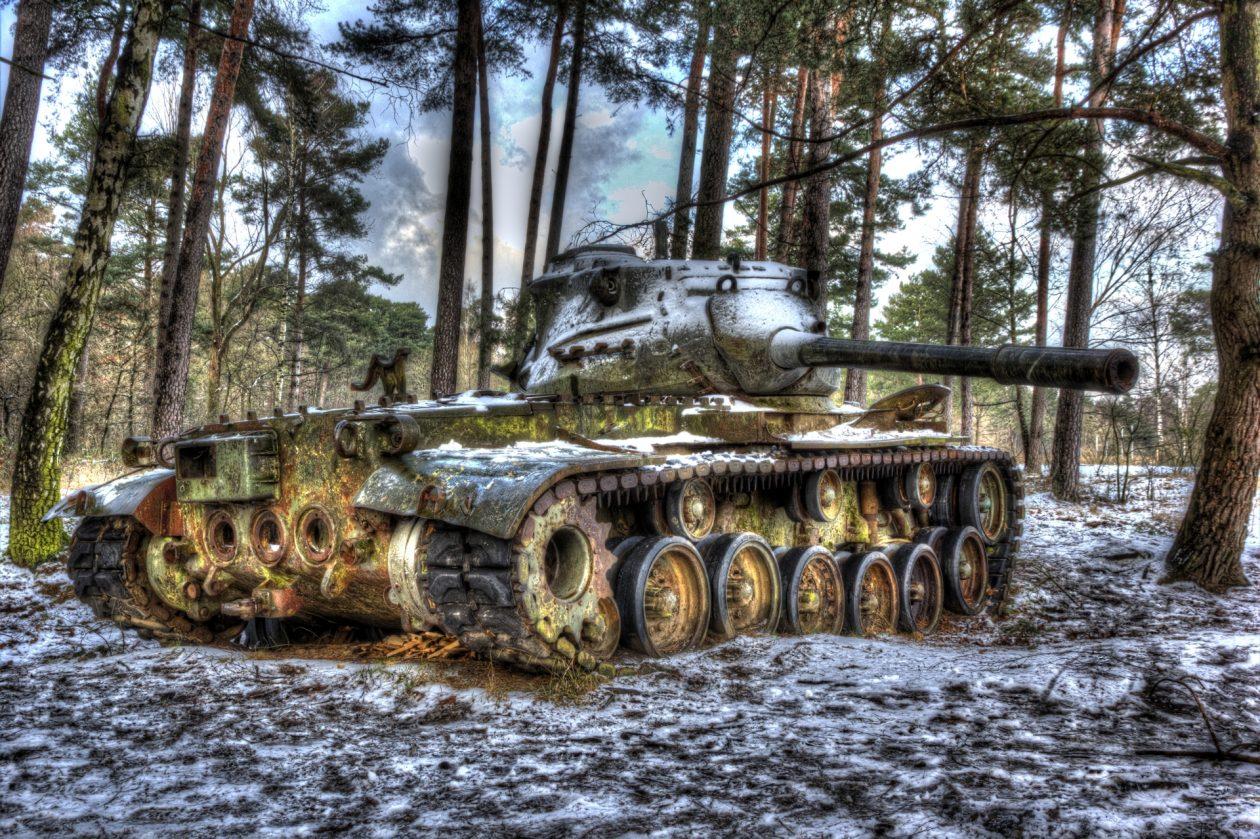 M47 Medium Tank – 90 mm Gun urbex - verlassene Orte