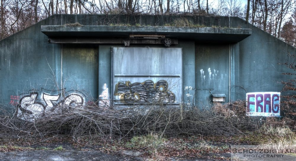 Verlassener Bunker im Munitionsdepot Hünxe Munitionsbunker