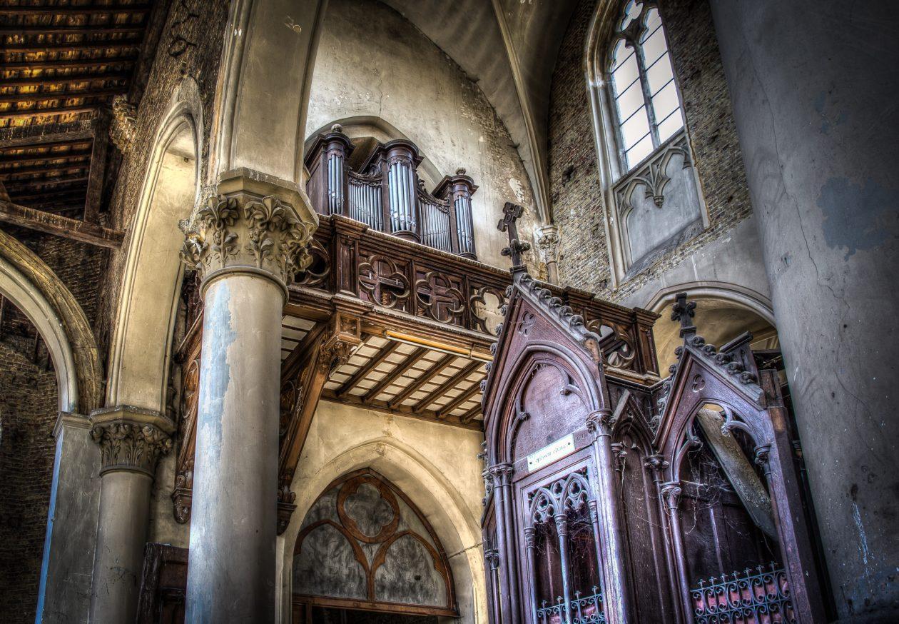 Blue Christ Church Lost Place Belgien