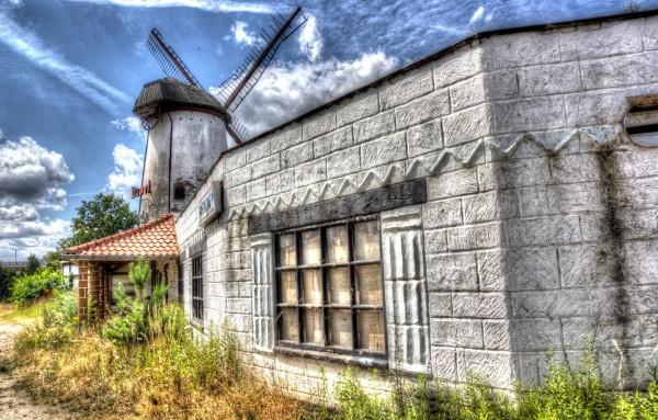 Verlassene Mühle in Belgien