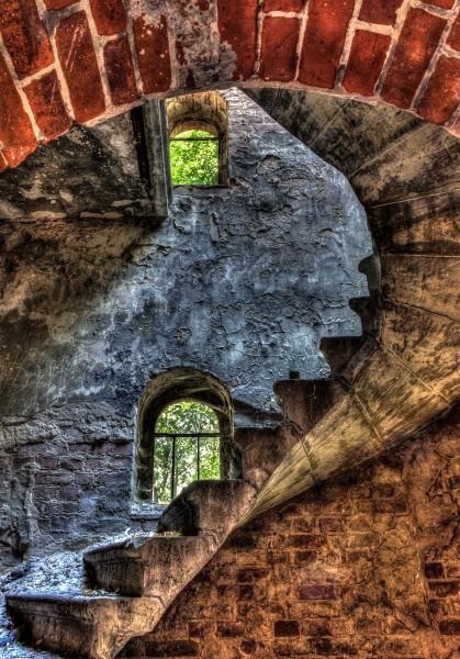 Treppenhaus der alten Kapelle Grabowsee
