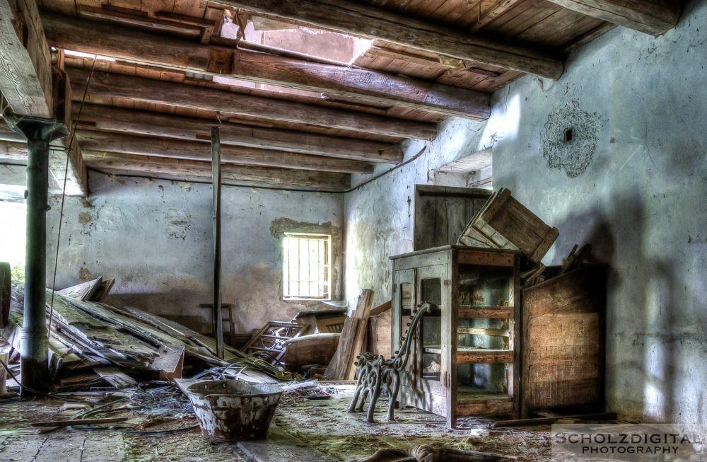 Dachboden des verlassenen Gebäudes