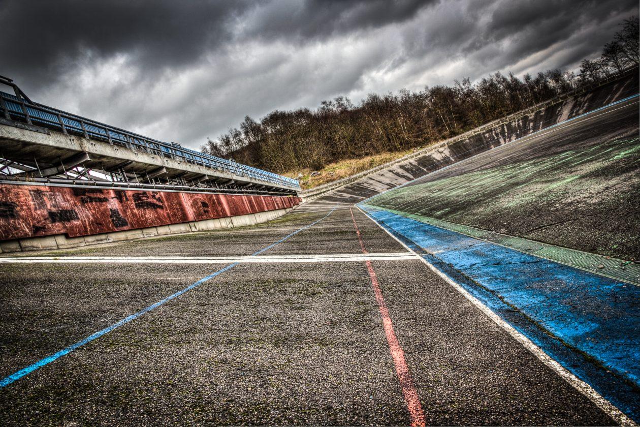 Radrennbahn in der Wallonie