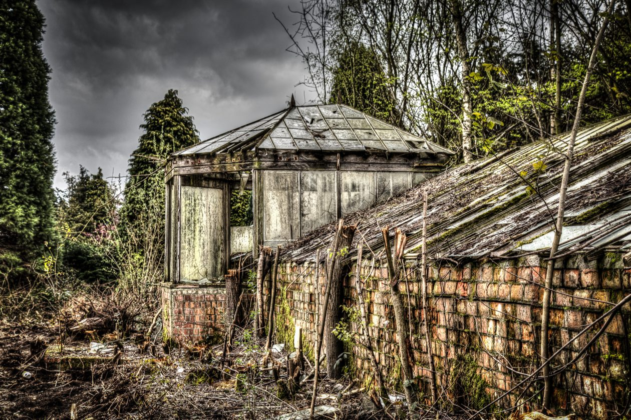 verfallenes Gewächshaus