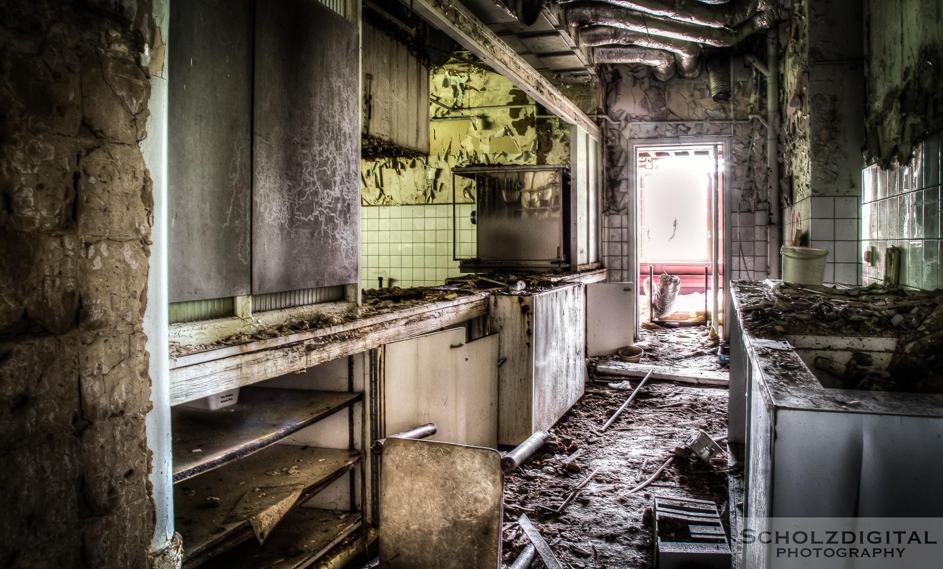 Verlassene Orte - wurden in dieser Küche wohlduftende Speisen zubereitet, so ist heute nur noch der Duft des Verfalls vorhanden