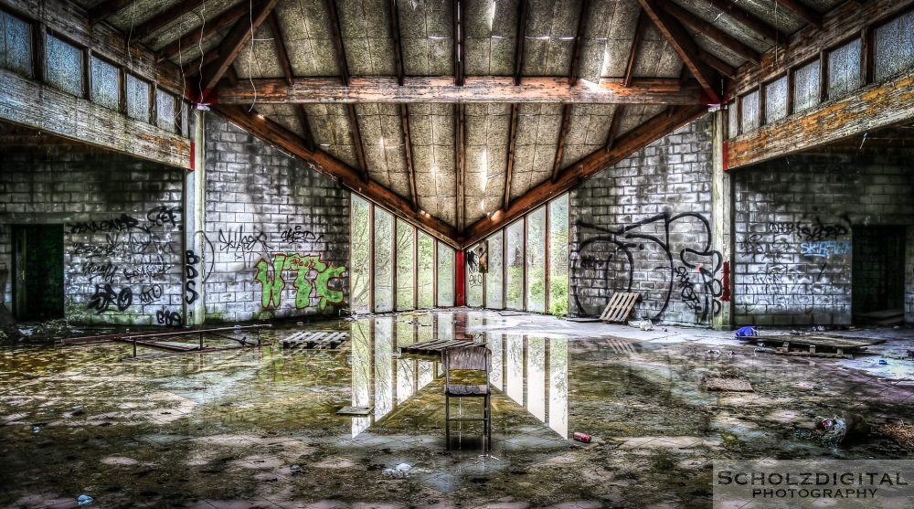 Abandoned military complex
