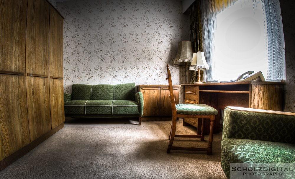 Verlassenes Hotel im Harz, Waldhotel. Urban Exploration