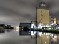 HDR Nachtaufnahme Stadthafen Gelsenkirchen