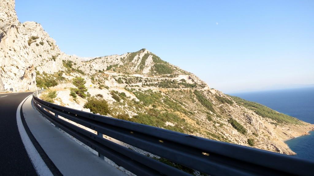 Blick von der Jadranska Magistrale (Küstenstrasse)