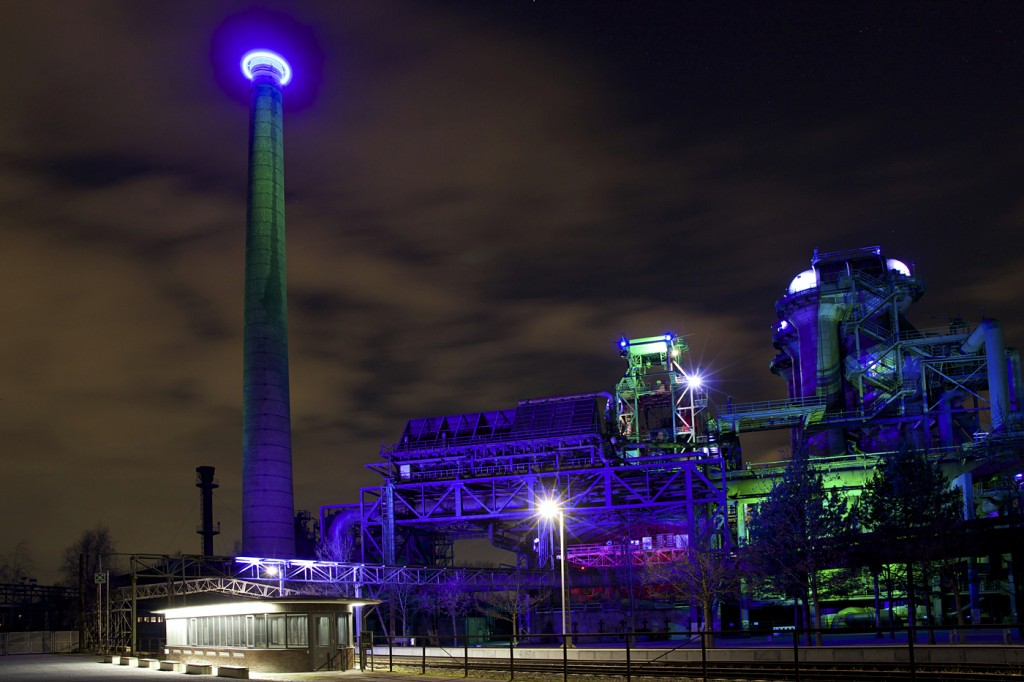 Nachtaufnahme Landschaftspark Duisburg Nord