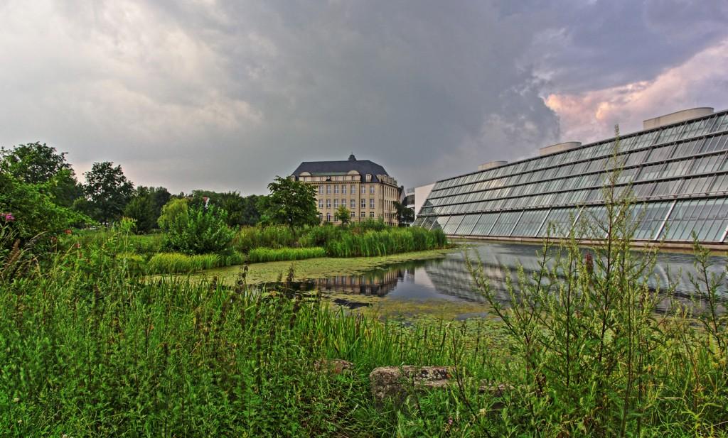 HDR Aufnahme des Wissenschaftspark und des Gerichtsgebäudes in Gelsenkirchen