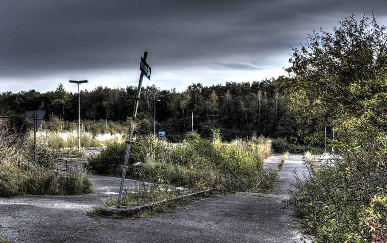 HDR Aufnahme eines ehemaligen Bergwerkgeländes