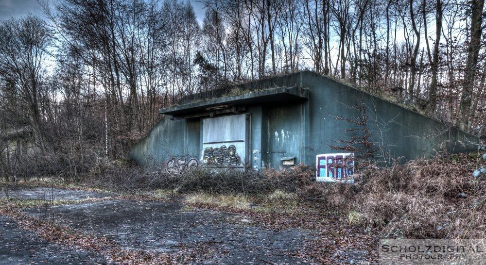 Verlassener Bunker im Munitionsdepot Hünxe