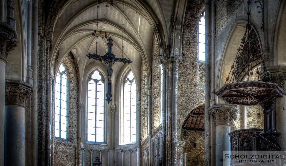Blue Christ Church Lost Place Belgien