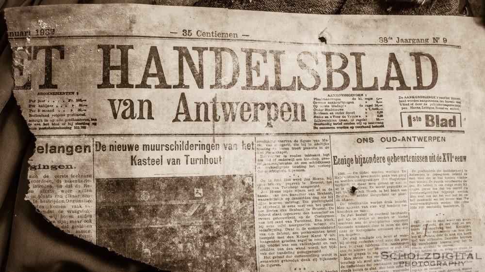 Urban Exploration - Zeitung aus dem Jahr 1932