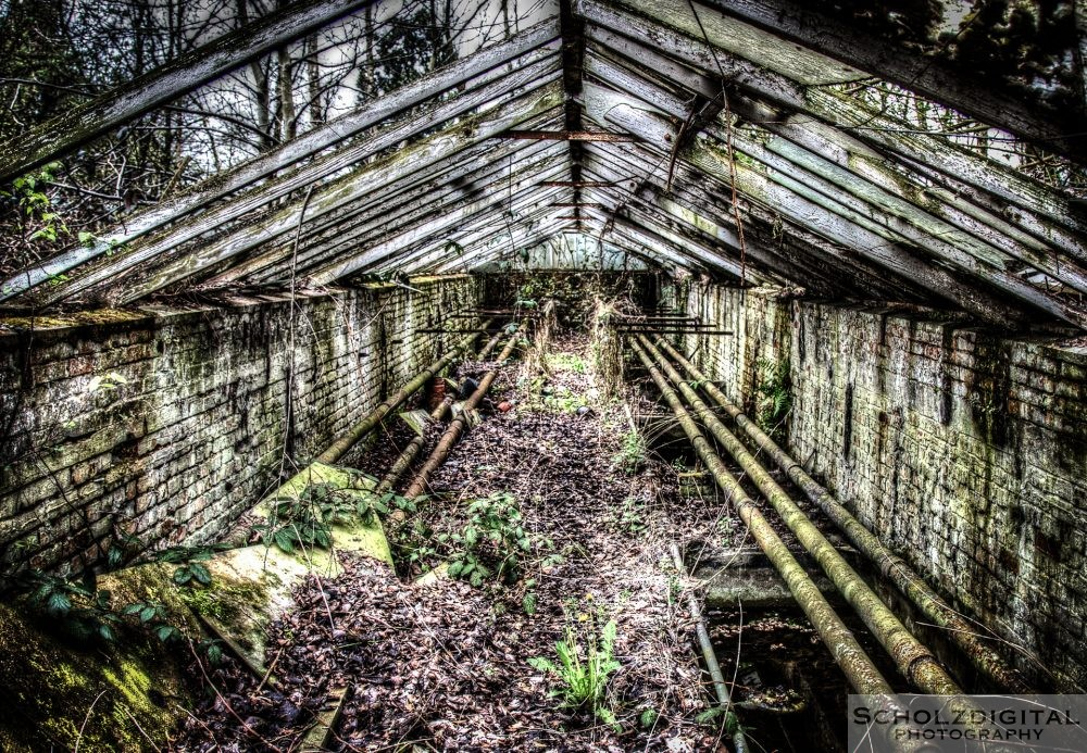 Ruine eines Gewächshauses