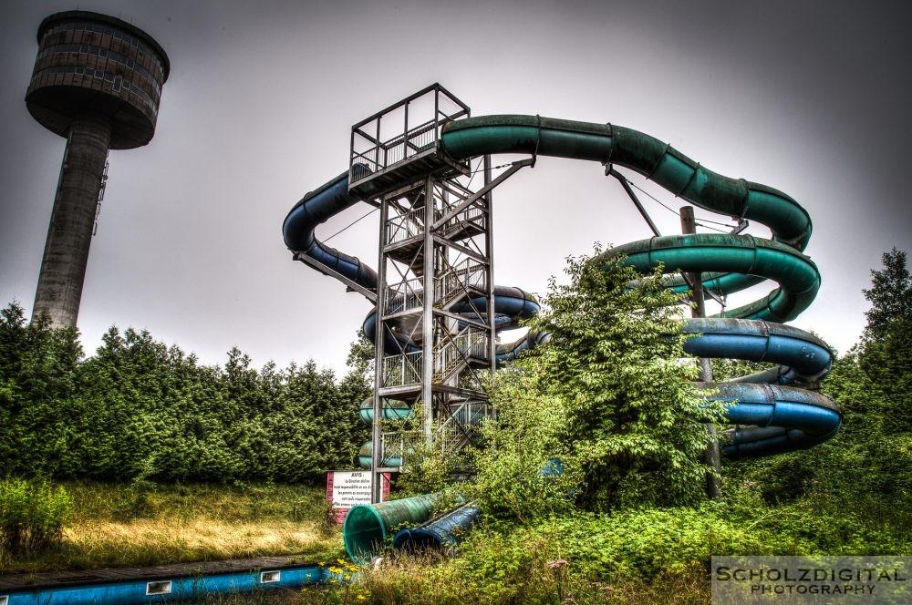 Verlassener Wasserpark