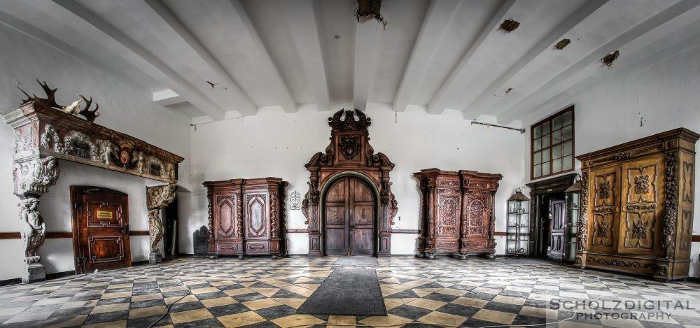 Ecole du chateau - Lost Place - urbex -verlassenes Schloss - abandoned HDR
