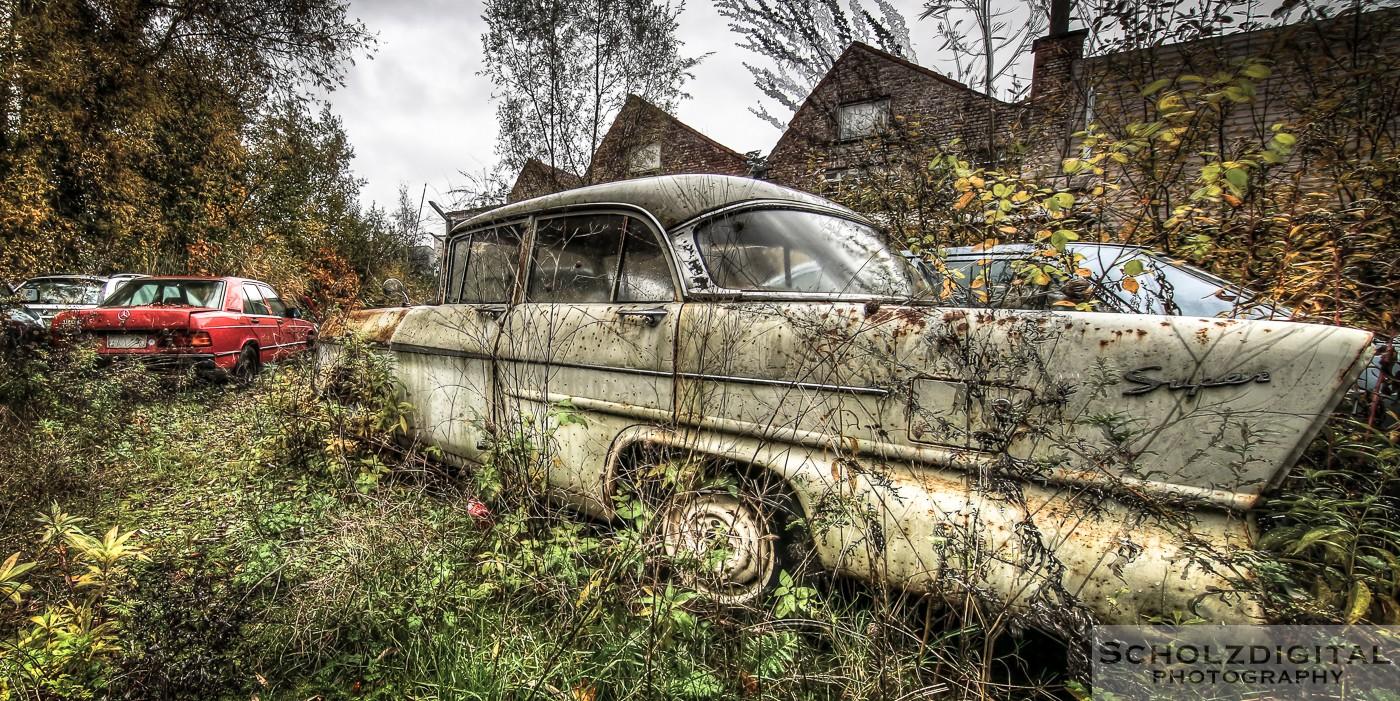 Urbex, Lost Place, HDR, Abandoned, verlassene Orte, verlassen, verlaten, Urban exploration, UE, Verlassene Orte in Belgien, Urbex Belgien, Belgie, Autofriedhof, car graveyard, rostige Autos, Oldtimer