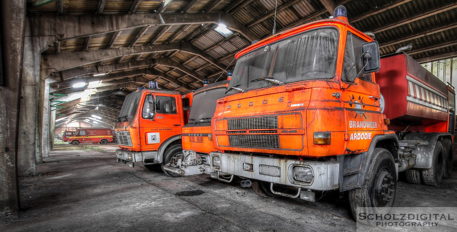 Abandoned, Feuerwehr, Fire Figther Trucks, HDR, Lost Place, UE, Urban exploration, Urbex, verlassen, Verlassene Orte, Verlassene Orte in Belgien, verlaten