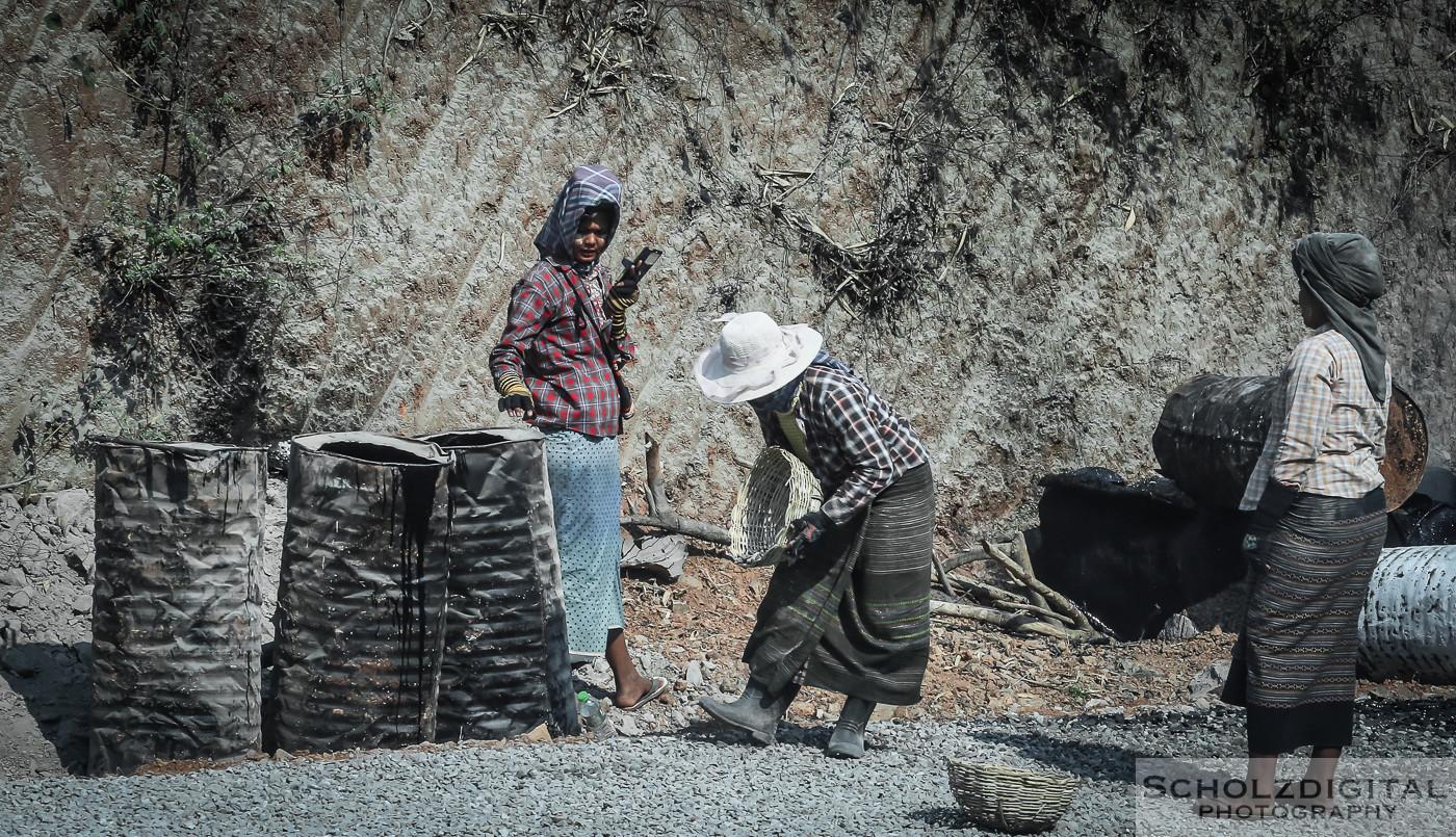 Asia, Bauarbeiter, Baustelle, Birma, Burma, Exploring, Myanmar, Southeastasia, Straßenbau, tagelöhner, Travelling, road construction, Backpacker