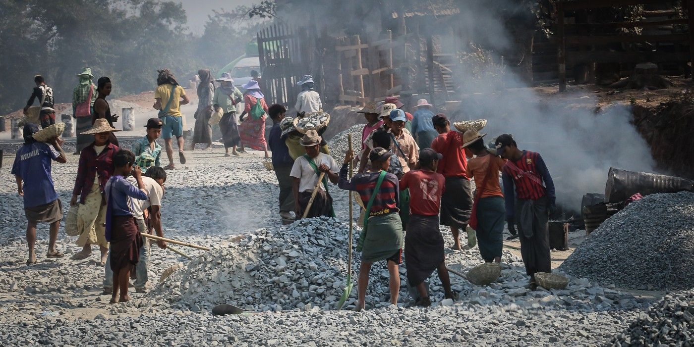 Myanmar Straßenbau