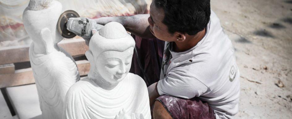 Birma, Buddha, Burma, Exploring, Figuren, Figurs, Handwerk, Mandalay, Marble, Marmor, Myanmar, Statuen, Steinmetz, Travelling, Reisebericht, Skulpturen