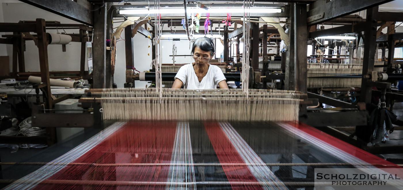 Birma, Burma, Exploring, Handwerk, Mandalay, Myanmar, Travelling, Weaving, Weberei, Webstuhl, Amarapura, Seidenweberei