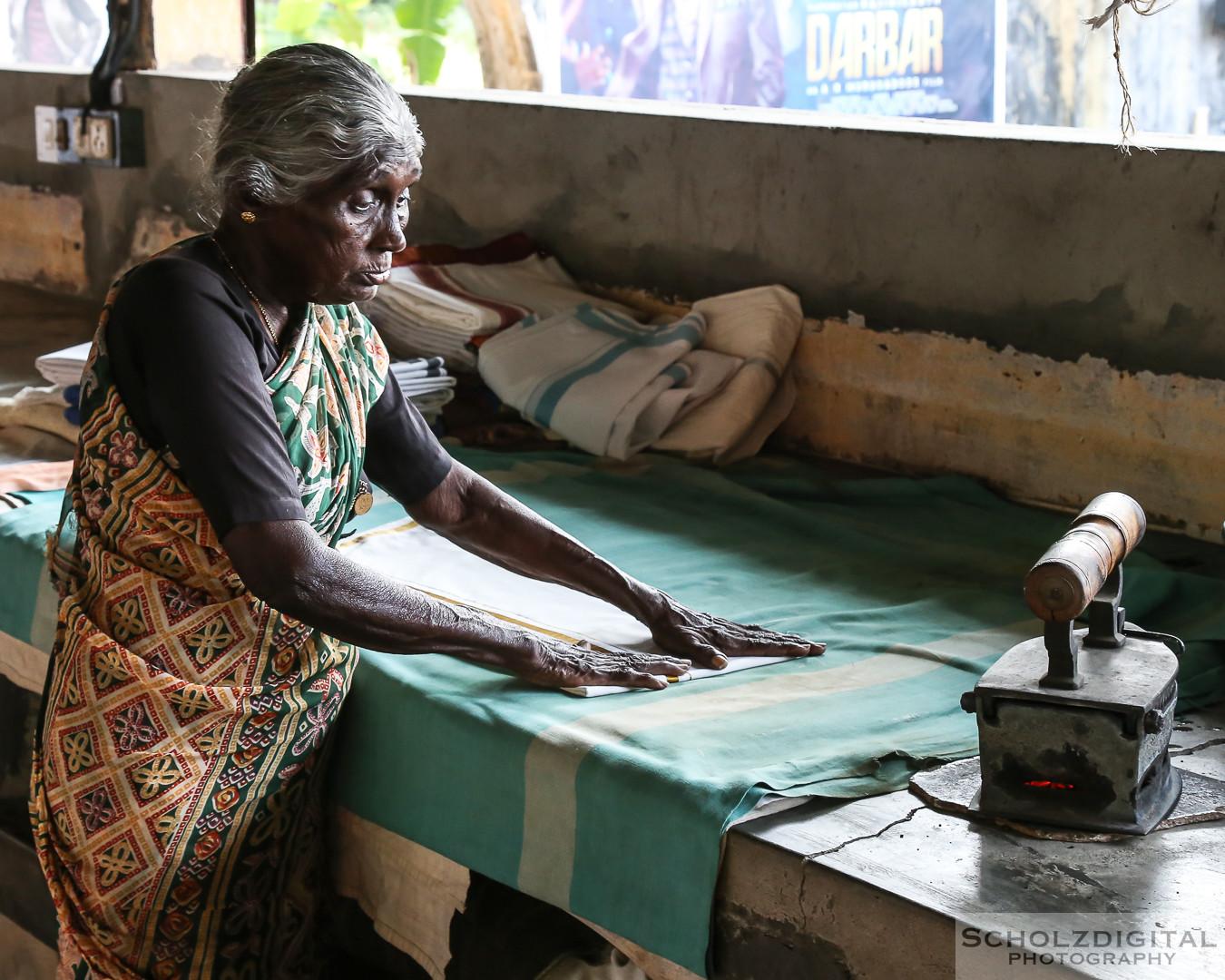 INDIEN – WÄSCHEREI IN KOCHI, Laundry