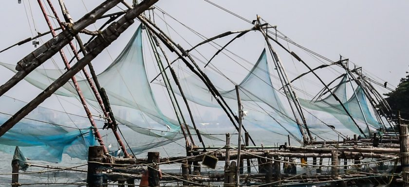 chinesische Fischernetze, Cochin, Fisch, Fischer, Fischerei, India, Indien, Kerala, Kochi, Rundreise, Streetphotography