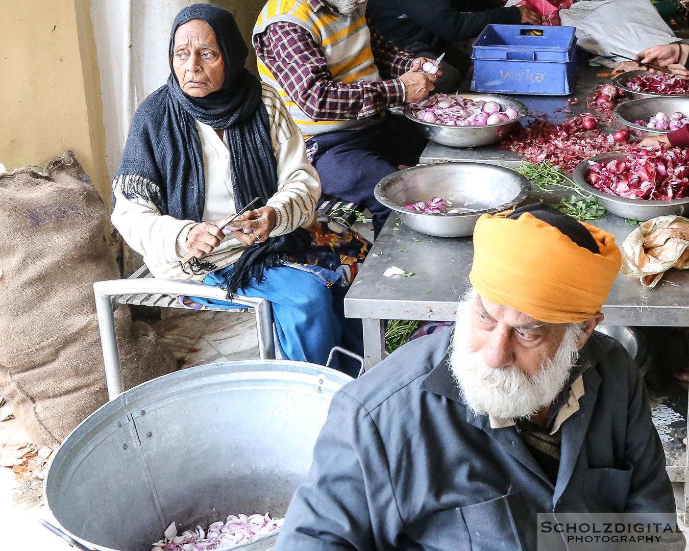 Küche im Gurudwara Bangla Sahib, Sikh-Tempel, New Delhi, Indien, India