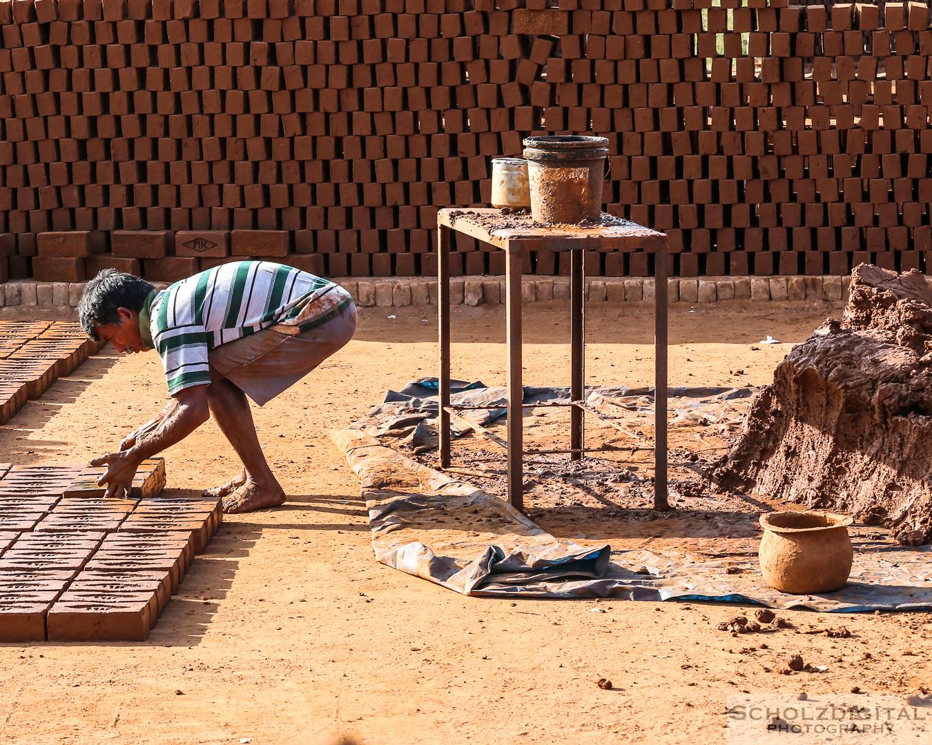 Indien, India, Streetphotography, Rundreise, Tamil Nadu, Streetlife, Ziegelei, Madurai, Ziegeherstellung