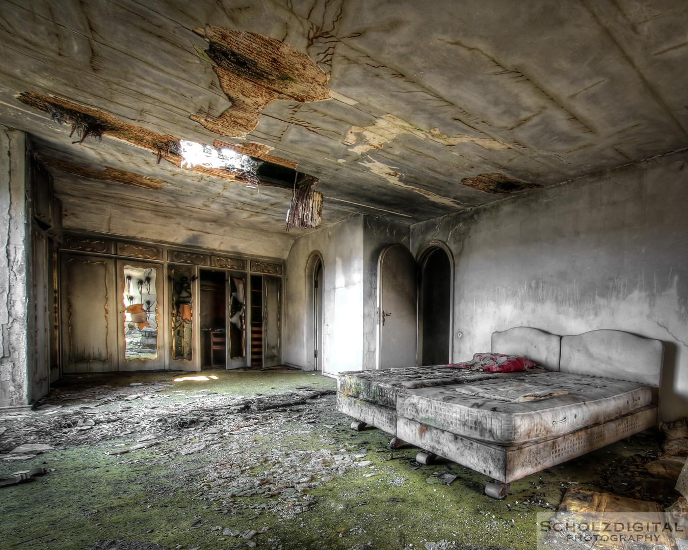 Schlafzimmer in der Villa des direktors